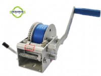 2000LBS HAND WINCH(WEBBING) DACROMET WITH REMOVABLE HANDLE(SW2000W DACROMET REMOVABLE)